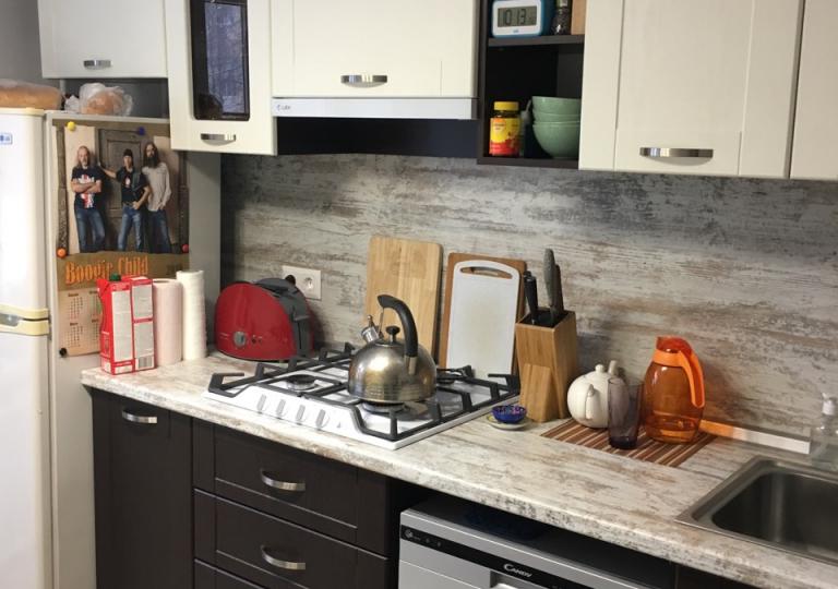 Кухня комбинированная столешница винтаж